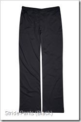 stride pants black